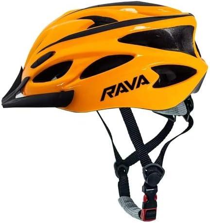 Capacete Para Ciclismo Mtb Space Laranja Tamanho M 54 a 57 cm C/Viseira In Mold Rava