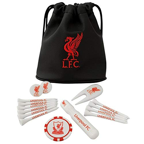 Liverpool Official Licensed Tote Bag Golf Gift Set - Black