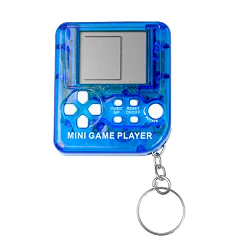 MAICOLA Tetris clásico Juego de Consola portátil LCD Llavero Jugadores del Juego antiestrés Juguetes electrónicos Llavero Retro Mini máquina de Juego