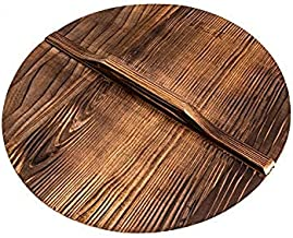 Natural Wood Wok lid/Cover Healthy and Environment Friendly Anti-bacteria Light (36cm/14inch)