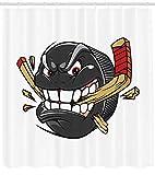 Puntelli da Doccia per Mazze da Hockey Stick 12 Ganci per Tende da Doccia Impermeabili...