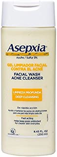 ASEPXIA Medicated Acne Face Wash - Facial Cleanser for Pimples and Blackheads with 3% Sulfur, 8.45 fluid ounce