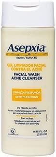 Asepxia Shower Gel Acne Blackhead Pimple Treatment with 2% Sulfur, 8.45 Fluid Ounce