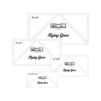 Bloc Loc Flying Geese Ruler Set 1~1.5 x3,2 x4 ,3 x6 ,4 x8