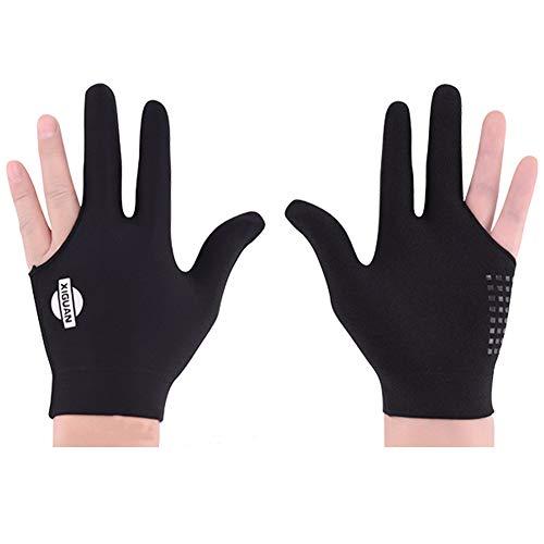 BEKZILY Billiard Gloves for Left/Right Hand (Black Full Finger, Left Hand)