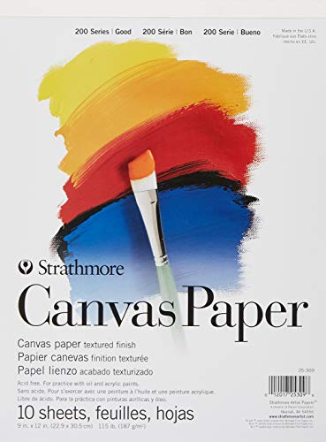 Strathmore (25-309 200 series canvas paper pad, 9 x 12
