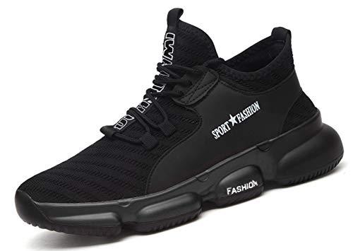 SUADEX おしゃれ あんぜん靴 安全 靴 作業 工事現場 靴 黒 スニ一カ一 軽量 作業靴 通気性 鋼先芯 耐摩耗 防刺 耐滑ソール アウトドア スニーカー ワーク シューズ セーフティーシューズ