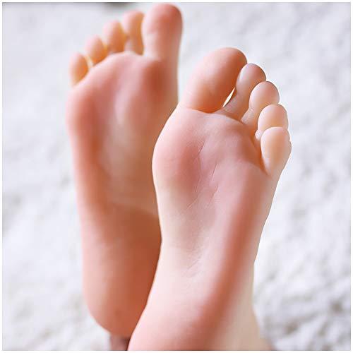 2ST Silikon Füße Modell - Female Silikon-Fuss-Fuss-Modell - Silikon-Life Size Füße Modell Weibliches Mannequin Fuß - für Schuhe Vorführmodell Art Skizze