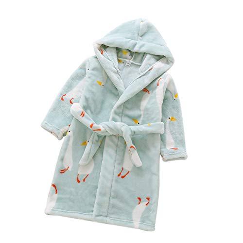 DEBAIJIA Kinder Bademantel 0-14T Säugling Handtuch Robe Baby Morgenmantel Kleinkind Hausmantel Nachthemd Junge Mädchen Unisex (Weiß-90)