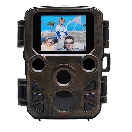DINGYUFA Wildlife Trail Kamera-Jagd-Kamera, 12MP 1080P Kamera Digitale Scouting wasserdichte Videorecorder Überwachungskameras für den Außenbereich