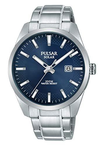 Pulsar Solar Herren-Uhr Edelstahl mit Metallband PX3181X1