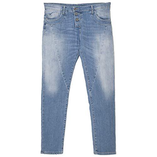 Please, P78A, Damen Jeans Hose, Stretchdenim, lightblue, XS [21751]