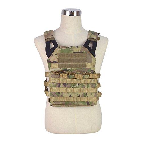 OAREA JPC Chaleco para airsoft, paintball, suéter de nailon, chaleco deportivo, combate, caza, tiro, táctico militar, Hombre, CP