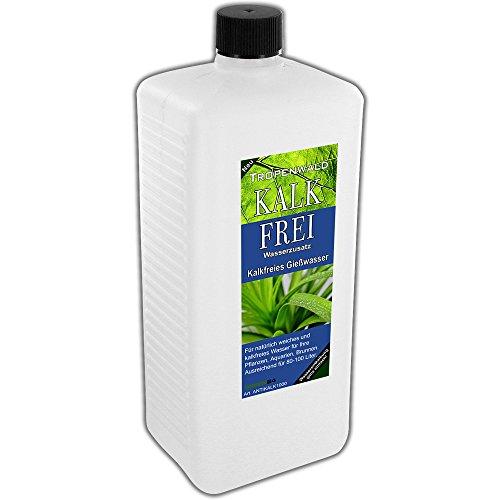 Entkalker Anti-Kalk XL 1 Liter - kalkfreies und weiches Wasser für Pflanzen, Aquarien und Brunnen für 80-100 Liter kalkfreies Wasser - Tropenwald