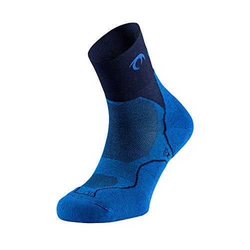 LURBEL Desafio Four, Calcetines de Trail Running, Calcetines Transpirables y Anti-Olor, Calcetines Anti-ampollas, Calcetines sin costuras outdoor, Calcetines Unisex. (MEDIANO - M, ROYAL - AZUL MARINO)