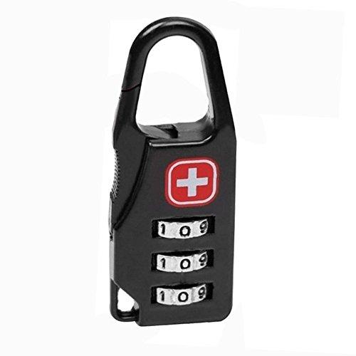 .a Candado de bloqueo de código de combinación seguro para equipaje con cremallera mochila