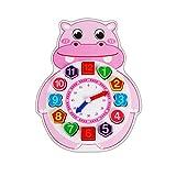 BaoYPP Juguete de Reloj de Madera Cognición Animal de Madera...