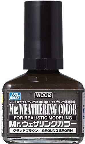 GSIクレオス Mr.ウェザリングカラー グランドブラウン 40ml 模型用塗料 WC02