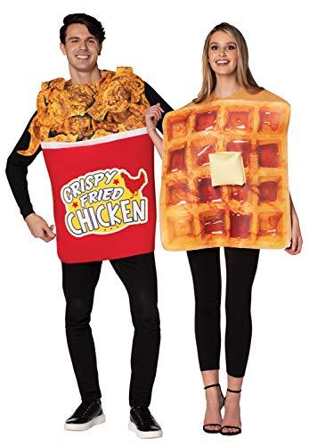 Rasta Imposta Bucket of Chicken & Waffle Couples Halloween Costume Set, Adult One Size