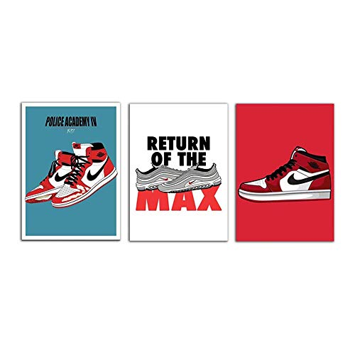 3 Piece Canvas Poster for Sneaker M…
