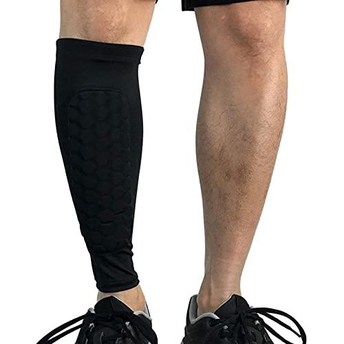 Fussball Schienbeinschoner, Leichte Atmungsaktive Fußball Ausrüstung fur Jungen Mädchen, Soccer Shin Guards (Color : Black, Size : XL)