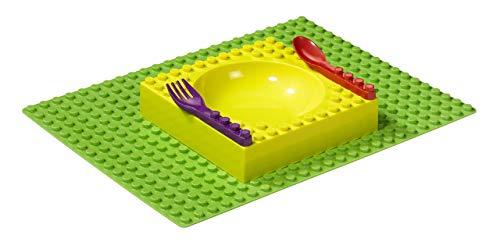 Placematix PM101002A Vaisselle pour Enfant avec Base Tapis Plastique Multicolore 45 x 35 x 25 cm 4 Pièces