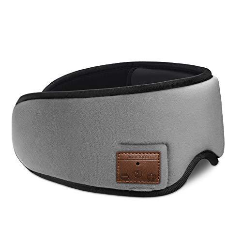 Daxueyan Bluetooth musik ögonbindel intelligent trådlöst headset resa sovande headset bluetooth hampa grå