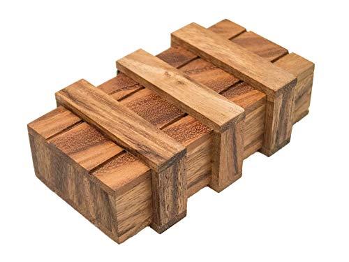 ROMBOL Geschenkbox, Magic Box, Schatzkiste, Geschenkverpackung, groß, Denk- und Knobelspiel, Holz