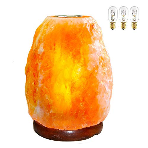 Pursalt Himalayan Salt Lamp Natural Crystal Lamp with Small Plate to Diffuse Aromatherapy and Essential Distinctive Rock Aroma Lamp Hand Carved Aromatherapy Night Light