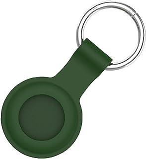 Silikonowa skóra ochronna Kompatybilna z Airtags Case Cover Bluetooth Tracker Cover Airtags Akcesoria z brelokiem zielonym