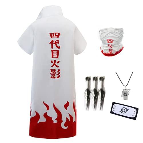Disfraz de anime unisex para cosplay de Naruto, bata larga para cuarto Hokage Yondaime