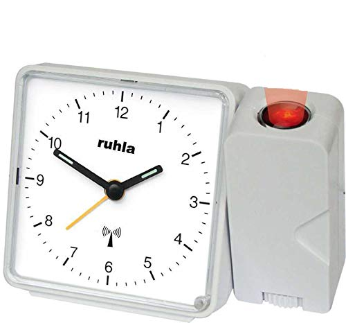 RUHLA Funkwecker analog mit Projektion und Netzteil RC 505-2