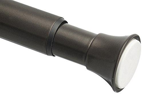 AmazonBasics - Barra de tensión para cortina de ducha, 61 a 91cm, bronce
