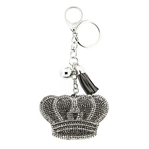 Sweet Deluxe Schlüsselanhänger Krone, Silber/bl.diam./Crystal I Cooler Schlüsselhalter für Damen & Mädchen I Geschenk-Idee für Frauen & BFF Freundin I individueller Schlüsselring