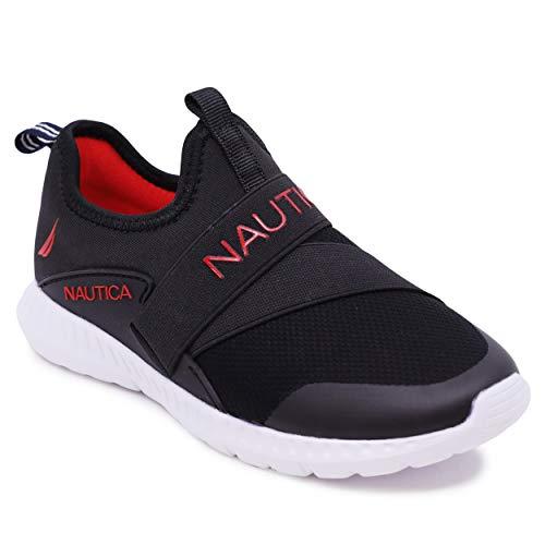 Nautica - Zapatillas deportivas deportivas para niños, Findlay-negro sólido, 21 MX Niño pequeño