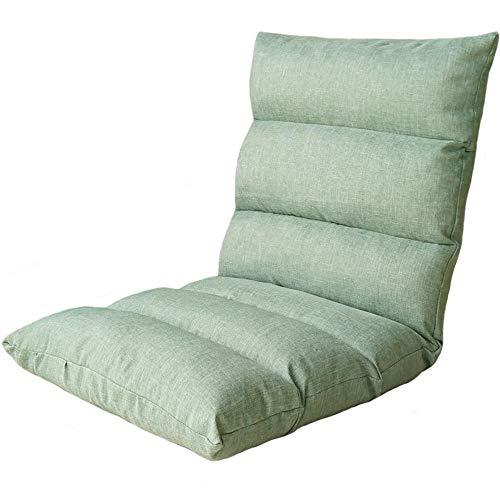 LJFYXZ Chaise de Sol Pliable Réglage à 6 Vitesses Seul Petit canapé Facile à enlever et à Laver Chaise d'ordinateur (Couleur : Light Green)