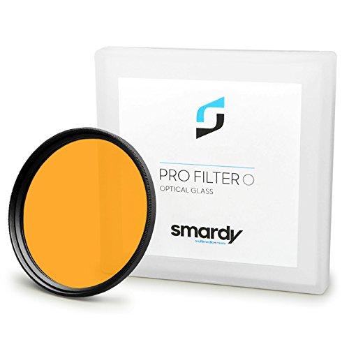 smardy Filtro de Color Naranja 55 mm Compatible con Canon Sony Nikon Samsung Fujifilm Pentax Olympus + paño de Limpieza