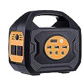 Generador Portátil Generador Inverter Generador de energía portátil 192.78WH 53550mAH Fuente de alimentación de batería de litio de la estación de energía solar, linternas LED de carga inalámbrica