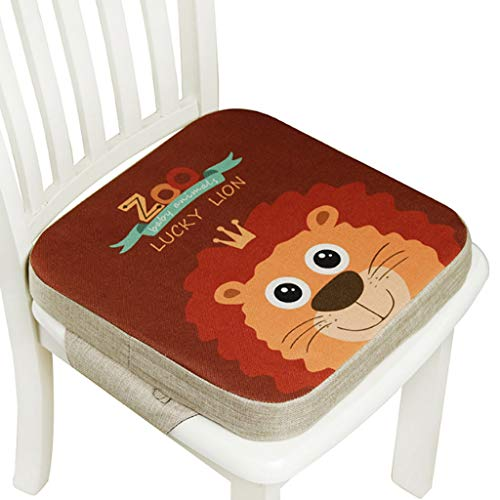 Wenyounge Kinder Sitzkissen Sitzerhöhung Stuhl, Baby Zerlegbar Tragbar Sitzkissen Cartoon Quadratische Kleinkinder Esszimmerstuhl ErhöHen Pad Esszimmer Boostersitze