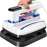 VEVOR Portable Heat Press 7x8 Inch Easy Press 800W Mini Heat Press Three Adjustable Modes Automatic Heat Press Machine for T Shirts Bags and Small HTV Vinyl Projects(Blue)