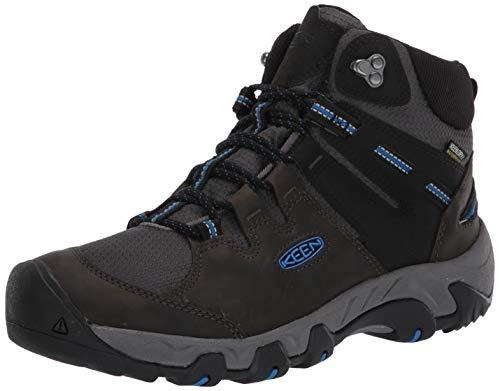 KEEN Men's Steens MID WP Hiking Boot, Black, 12