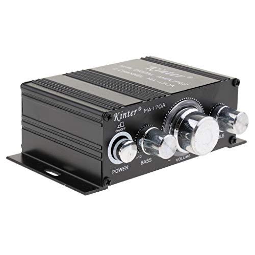 B Blesiya Amplificador de Audio Digital Estéreo de Fidelidad Bluetooth con Control de Tono de Agudos/Graves