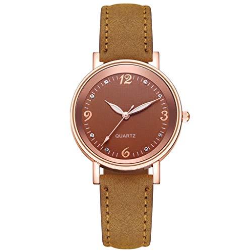 JZDH Relojes para Mujer Reloj de Cuero con múltiples Colores de Reloj de Mujer Simple Relojes de Cuarzo Elegante Reloj Reloj Reloj Mujer Reloj de Pulsera Relojes Decorativos Casuales para Niñas Damas
