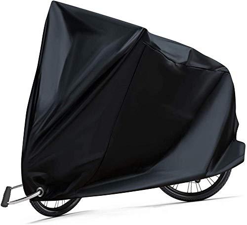 Funda para bicicleta 210D lona impermeable para bicicleta Tela Oxford Funda protectora para bicicleta de exterior con ojales de bloqueo Protección anti-polvo, lluvia, protección UV 200 x 110 x 70 cm