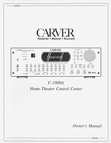 Carver C-1000a Control Center Owners Instruction Manual Reprint [Plastic Comb]