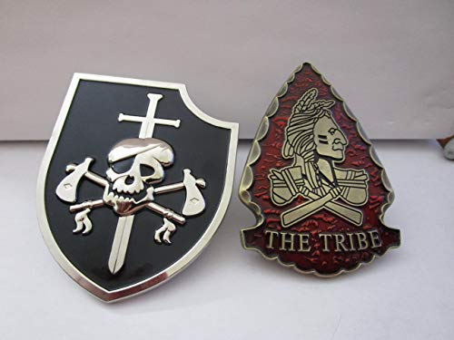 Set of 2 Navy Seals Challenge Coins Navy Seal Team 6 The Tribe Red & Navy Seal Team VI Silver Squadron