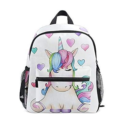 Mochilas Escolares Infantiles, Bolsa De Preescolar Ligera Personalizada Personalizada Impresa con Unicornio Lindo para Niñas Niños