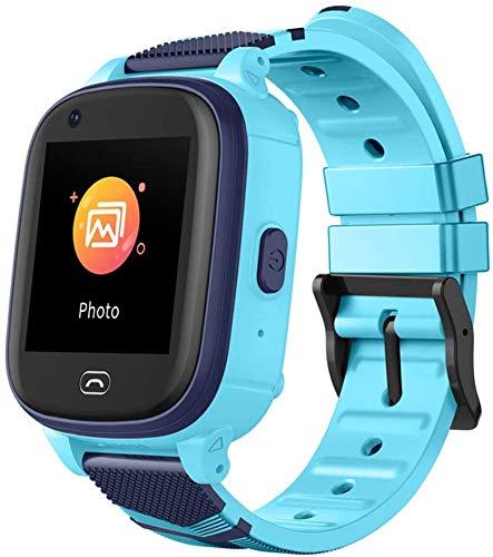 LNLJ 4G Kids Smartwatch localizador GPS 2-Way Face Call Voice & Video Camera SOS Alarm, para niños niñas, azul