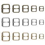 OPPRES 60 PCS Fibbia Zaino Borsa Bagagli Metallo Design a Rulli Regolazione Scorrevole Fibbia Moschettone Tracolla Cintura Accessorio Cinghia Borsa Accessori per Animali Domestici