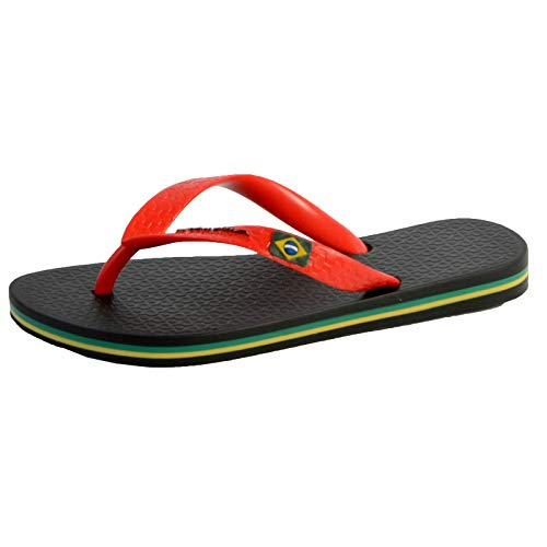 Ipanema CLAS Brasil II Kids, Chanclas, Black/Red, 38 EU
